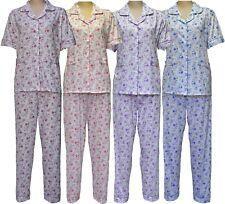 Women Pyjamas Flower Night Wear Ladies Nighty Cotton Revere Collar Short Sleeves