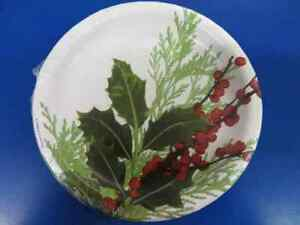 """Pure Poinsettia Holly Flower Christmas Holiday Party 7"""" Paper Dessert Plates"""