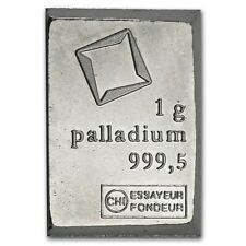 PALLADIUM 1 GRAM BULLION BAR | INVESTMENT INGOT JEWELLERY | RARER GOLD PLATINUM