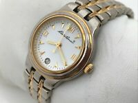Eddie Bauer Women Watch Silver/Gold Tone Analog Date Calendar Wrist Watch 5ATM