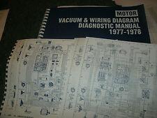 1977 1978 OLDSMOBILE CUTLASS OMEGA WIRING VACUUM DIAGRAMS MANUAL SHEETS SET