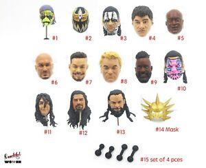 WWE WWF Head Sculpt Fit 6'' Action figure Toys wrestling BAF head WCW soldiers