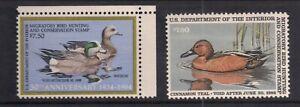 US Ducks Stamps # RW51 and RW-52 VF Mint NH