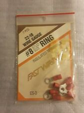 Fast Wiring 22-18 Wire Gua 00004000 ge #8 Stud Size Ring Insulated Terminals New