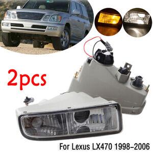Fog Light For Lexus LX470 1998 1999 2000- 2007 Front Bumper Cover Lamp Blub Pair