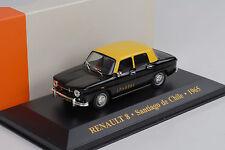 1965 Renault 8 Taxi Santiago de Chile black yellow  1:43 IXO Altaya