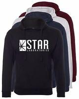 Hooded Sweatshirt The Flash Star Labs Printed DC Comics Unisex Pullover Jumper