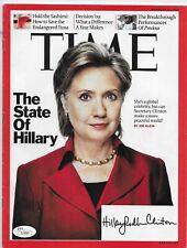 Hillary Rodman Clinton Signed TIME Magazine President Full Name JSA COA