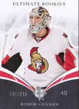 10-11 UD Ultimate Robin Lehner /399 Rookie Senators Sabres 2010