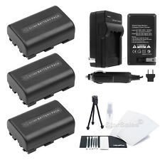 3x NP-FM50 Battery + Charger for Sony DSR-PDX10 HDR-HC1 HVR-A1 A1U A1J