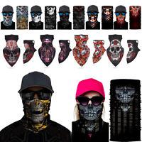 Skull Tube Bandana Neck Gaiter Cover Face Scarf Headwear Outdoor Cycling Riding