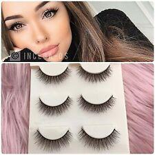 ✨🎀Soft 3 Pairs Natural Mink Lashes Eyelashes Makeup 3D  • USA SELLER🎀✨