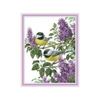 Birds DIY Handmade Needlework Counted 14CT Printed Cross Stitch Embroidery Kit r