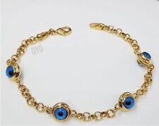 Herz Nazar Evil Eye 18 Karat Gold GP Armband Magisches Auge Böser Blick Bunt