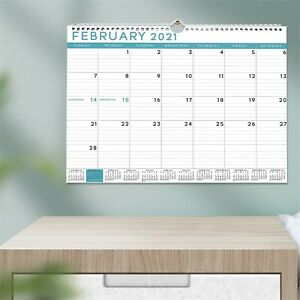 2021 Wall Desk Calendars 12-Month View  with Full Year Mini Calendar Colorful AU