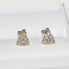 Diamant Ohrstecker 0,50 ct in 750er Weissgold (18K) Pavé Karat Ohrringe Brillant