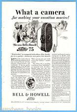 1928 BELL & HOWELL advertisement, FILMO Movie Camera, model 75