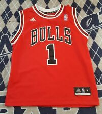 Adidas Boys Kids Size M Chicago Bulls Rose #1 Basketball Jersey Athletic Sports