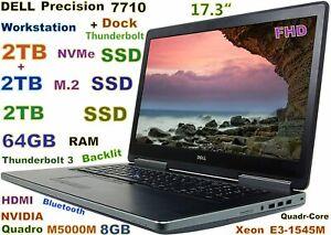 Workstation DELL 7710 Xeon E3-1545M 6TB NVMe SSD 64GB QUADRO M5000M 8GB + DOCK