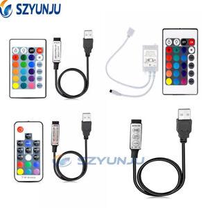 Mini 3/17/24/20/44 Key IR Remote Controller For 5050 3528 RGB LED Strips Lights