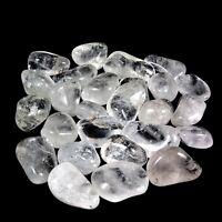 300 g Bergkristall Trommelsteine Ø 20 - 35 mm  A - Qualität aus Brasilien Gr: L