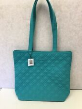 Vera Bradley Tote Bag Turquoise Sea New with tags Microfiber  MSRP $68