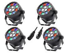 4 x Equinox Micropar RGBW 12 X 1W LED Par Can Lighting DJ Disco DMX Light Effect