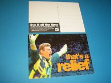 Andy Goram Oldham Athletic & SCOTLAND sky advertising postcard
