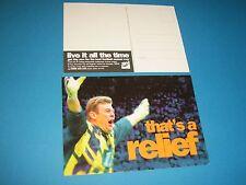 Andy Goram Oldham Athletic & SCOTLAND sky advertising postcard