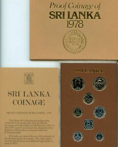 1978 SRI LANKA / CEYLON - OFFICIAL PROOF SET (8) - ROYAL MINT w/ COA  - RARE