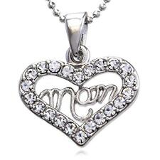 Best Friend Bff Heart Pendant Necklace Charm Mothers Day I Love You Mom Engraved
