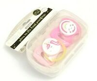 NEW SET OF 2 PACIFIER UNICORN RAINBOW BINKY 0+ MONTHS BPA FREE GLOW IN THE DARK