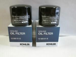 2 Pack Genuine Kohler 12-050-01-S Short Oil Filter 12 050 01-S OEM
