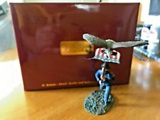 BRITAINS PAINTED METAL TOY SOLDIER-NEW RELEASE-UNION IRON BRIGADE EAGLE FLAGBEAR