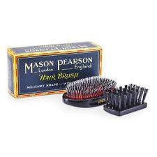Mason - Medium Junior Military Nylon & Bristle Hair Brush (Dark Ruby) 1pc