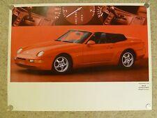 1992 Porsche 968 Cabriolet Tiptronic Showroom Advertising Sales Poster RARE L@@K
