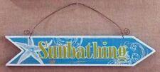 Wood Plaque Sunbathing Arrow Wall Sign 30137SB