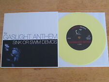 "GASLIGHT ANTHEM Sink Or Swin Demos 7"" YELLOW VINYL rare UNPLAYED"