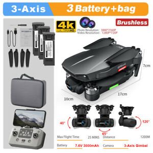Pro 3-Axis Gimbal Camera Drone 4K GPS 5G FPV 1.2Km 25mins Brushless Quadcopter