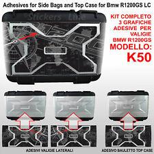 3 adesivi valigie vario BMW R1200GS Planisfero Bussola R 1200GS K50 dal 2013 BLK