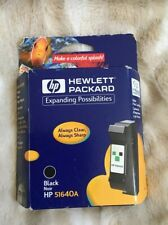 HP 40 Black Ink 51640A New Genuine OEM * Date: 2001