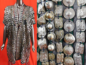 Vintage Afghanistan Kuchi Tribal Nomad Ethnic Silver Coin Covered Wedding Coat