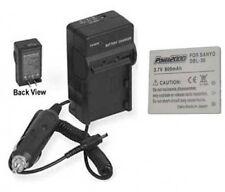 Battery + Charger for Sanyo DMX-C4N DMXC4 DMXC4D DMXC4L VPCCG5 DSC-E1 VARL20U