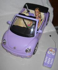 #6333 Mattel Radio Shack Volkswagen Barbie New Beetle Car with Barbie Doll