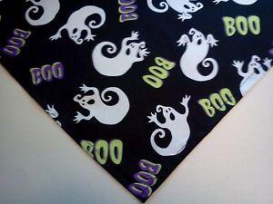 Dog Bandana/Scarf Cotton Slide/Tie On Halloween Custom Made by Linda XS S M L