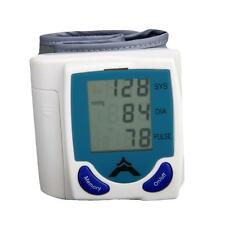New 60 Memory Storage LCD Digital Wrist Cuff Blood Pressure Monitor Heart Beat