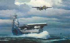William Phillips RISING INTO THE STORM, Aircraft Carrier, B-25 Canvas #69/70