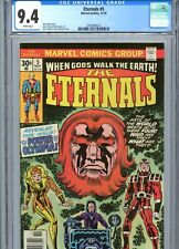 Eternals #5 CGC 9.4 White Pages Jack Kirby Cover & Art Marvel Comics 1976