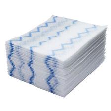Rubbermaid Commercial HYGEN Disposable Microfiber Cleaning Cloths White/Blue 1Pk