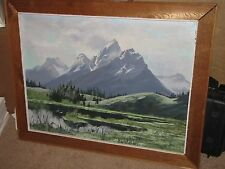"""JIM WILCOX Original Oil Painting on Board 24""""x32"""" Mountains"""